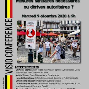 Mercredi 9 décembre 2020 : visioconférence à 19 h – mesures sanitaires nécessaires ou dérives autoritaires?