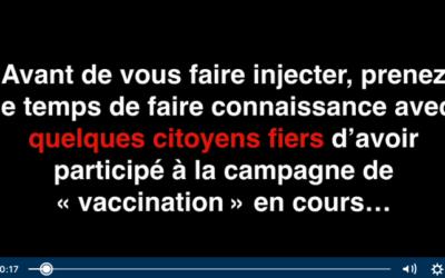 VIDEO – Ils se sont fait vacciner contre le covid et ils sont morts